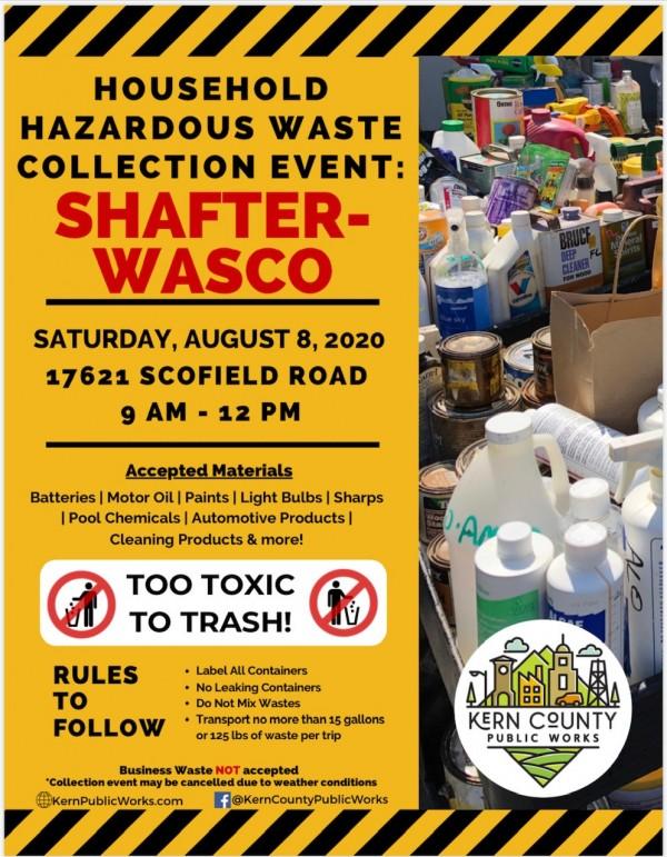Household Hazardous Waste Collection Event 2020