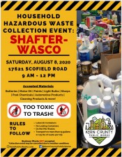 Household Hazardous Waste Collection Event 2020