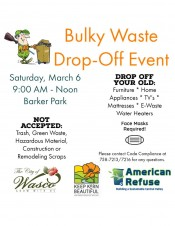 City of Wasco Bulky Waste Drop-Off Event