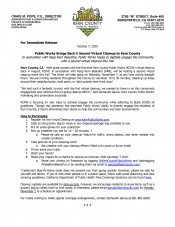 Keep Kern Beautiful information flyer