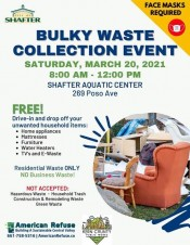 Shafter Bulky Waste Collection Event