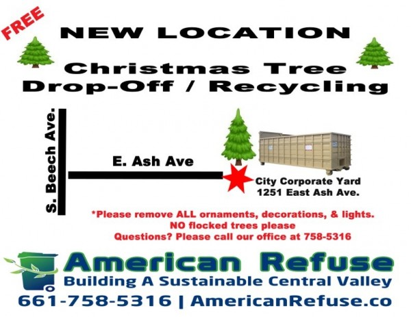 New Shafter Christmas Tree drop- off site